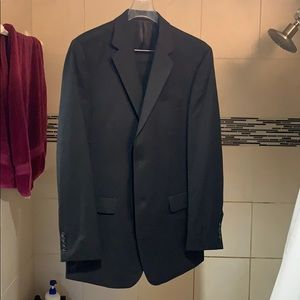 Calvin Klein Full Black Suit 40L (Jacket & Pants)